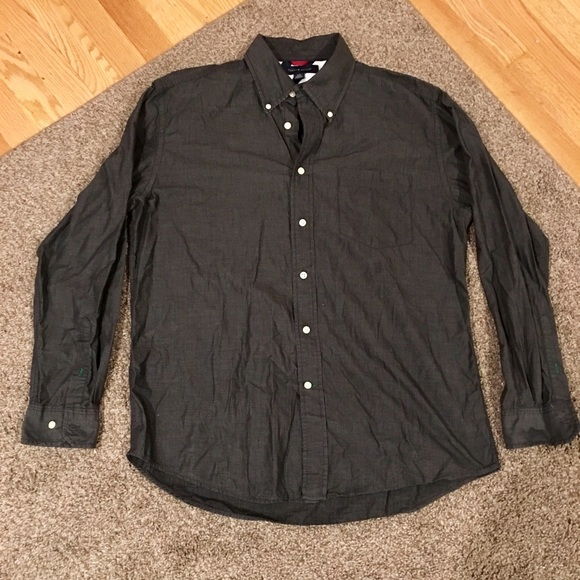 Tommy Hilfiger Other - Tommy Hilfiger Men's Gray Black Shirt Size Large